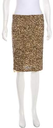 Vince Sequined Knee-Length Skirt w/ Tags