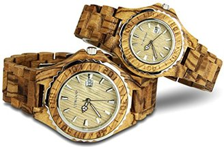 b95c33da48 YFWOOD 腕時計 木 ペアウォッチ カップル時計 メンズ レディース 1セット 優しい木の温もりを