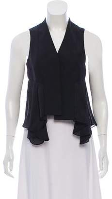 Alexander Wang Pleated- Accented Sleeveless Top