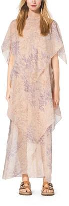 Michael Kors Floral-Print Tiered Silk-Chiffon Caftan