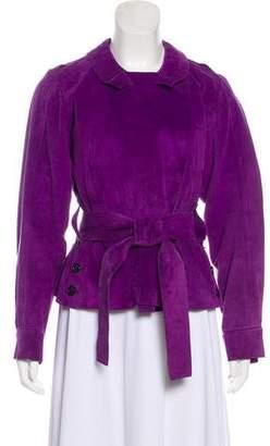 Saint Laurent Belted Suede Jacket