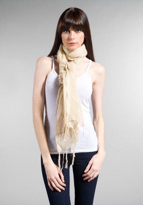 Love Quotes Hand Knotted Fringe Scarf