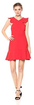 Adelyn Rae Women's Leola Woven Ruffle Dress