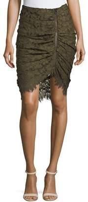 Veronica Beard Noche Faux-Wrap Pencil Skirt