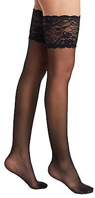 Fogal Women's Caresses Lace Top Stockings
