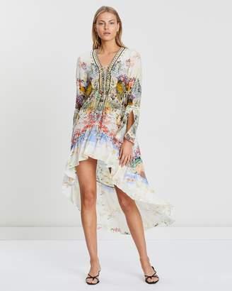 Camilla Short Dress with High-Low Hem