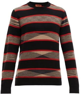 Missoni Striped Cashmere Jumper - Mens - Black Multi