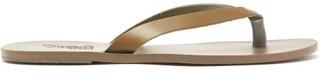 Ancient Greek Sandals Hero Leather Flip Flops - Mens - Khaki