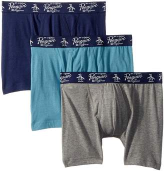 Original Penguin 100% Cotton 3 Pack Boxer Brief Men's Underwear