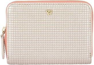 Kelly Wynne Money Maker Mini Embossed Leather Zip Wallet