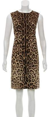 Dolce & Gabbana Animal Print Silk Dress