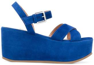 L'Autre Chose sling back platform sandals