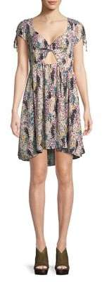 Free People Cutout Floral Skater Dress