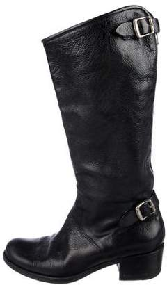 Robert Clergerie Pebbled Leather Knee-High Boots
