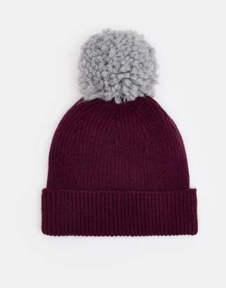 Joules Clothing Burgundy Gracie Chenille Hat