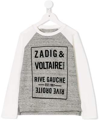 Zadig & Voltaire Kids Rive Gauche printed top