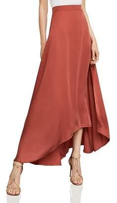 BCBGMAXAZRIA Jillian Asymmetric Satin Maxi Skirt