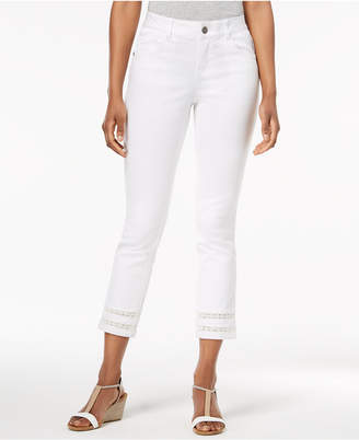 Style&Co. Style & Co Crochet-Cuff Capri Pants, Created for Macy's