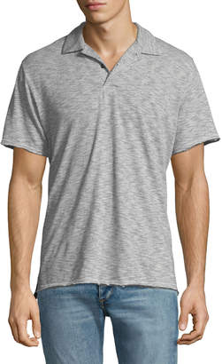Rag & Bone Men's Owen Striped Cotton-Linen Polo Shirt