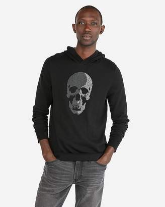 Express Skull Graphic Hooded Sweater