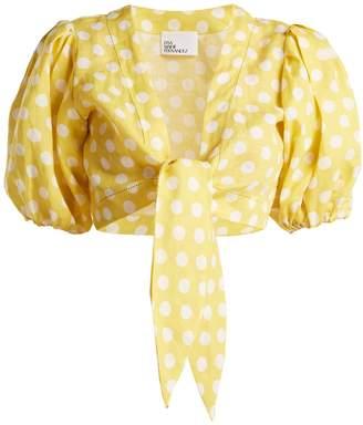 Lisa Marie Fernandez Puff-sleeved linen blouse
