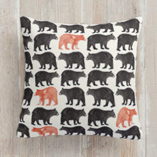 Bold Bears Square Pillow