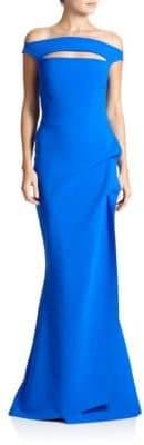 Chiara Boni Melania Off-The-Shoulder Gown