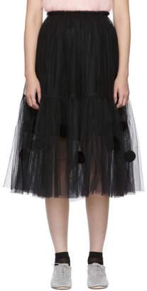 Comme des Garcons Black Tulle Pom Pom Skirt