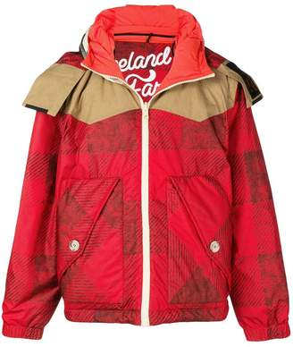 Woolrich reversible hooded padded jacket