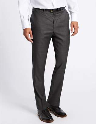 Marks and Spencer Tailored Fit Pure Wool Textured Trousers