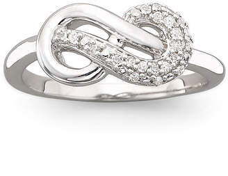 JCPenney FINE JEWELRY Infinite Promise 1/10 CT. T.W. Sterling Silver Diamond Ring