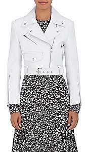 Calvin Klein Women's Leather Moto Jacket - White