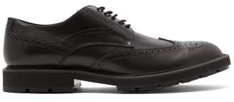 Tod's Leather Brogue Shoes - Mens - Black