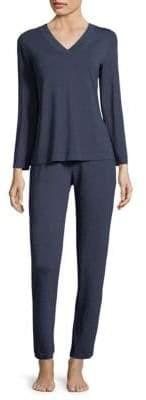 Hanro Champagne Long-Sleeve Pajamas
