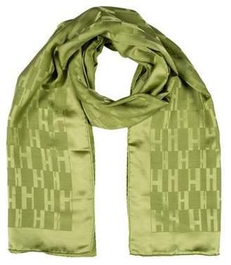Hermès Façonnée Grand H Silk Wool Stole