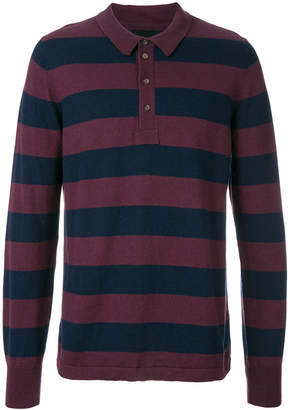 Wolsey striped longlseeved polo shirt