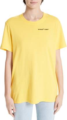 Off-White Quotes Casual Tee