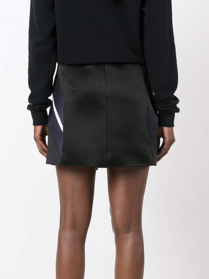Neil Barrett contrast stripe skirt