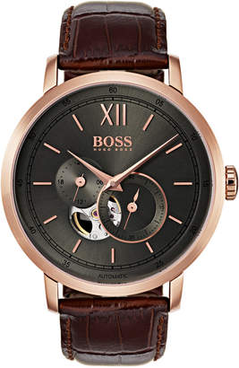 HUGO BOSS Signature Timepiece Watch Brown