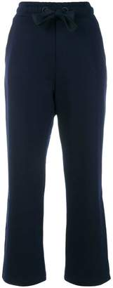 Moncler flared cropped track pants