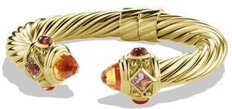David Yurman Renaissance Bracelet with Citrine and Iolite in Gold