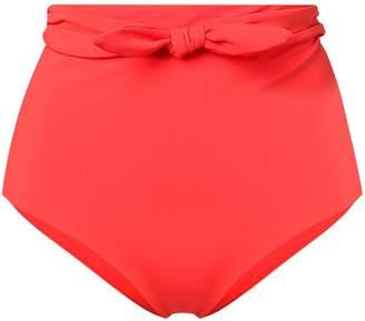 Mara Hoffman bow detail high waisted bikini bottoms