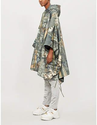 Koche Oversized satin poncho coat