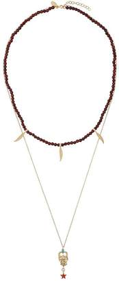 Iosselliani Puro Satyr red agate double necklace