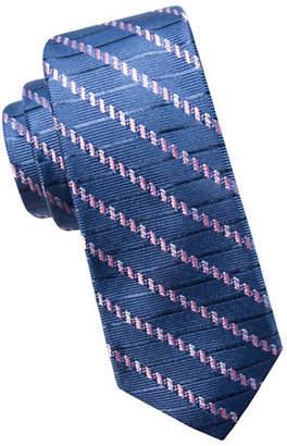 Vince Camuto Slim Linear Striped Silk Tie