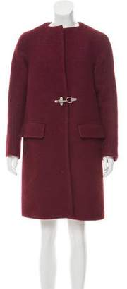 Dries Van Noten Wool Knee-Length Coat