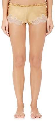 Carine Gilson Women's Flottant Lace-Trimmed Silk Shorts