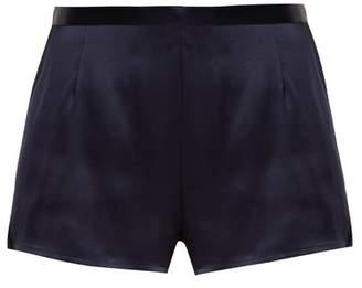La Perla - Silk Satin Pyjama Shorts - Womens - Blue Navy