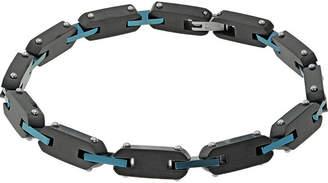 FINE JEWELRY Mens Black Stainless Steel Chain Link Bracelet