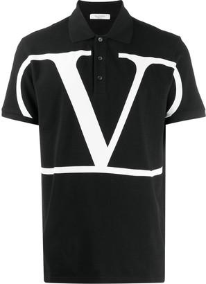 Valentino Deconstructed VLOGO polo shirt